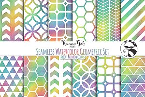 Seamless Watercolor Geometrics BR
