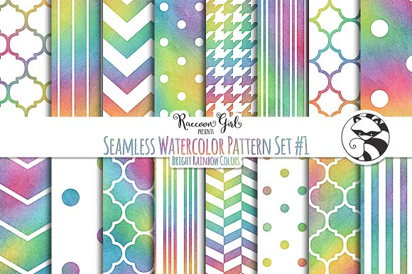 Seamless Watercolor Pattern #1 Br