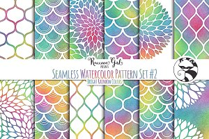 Seamless Watercolor Patterns #2 BR