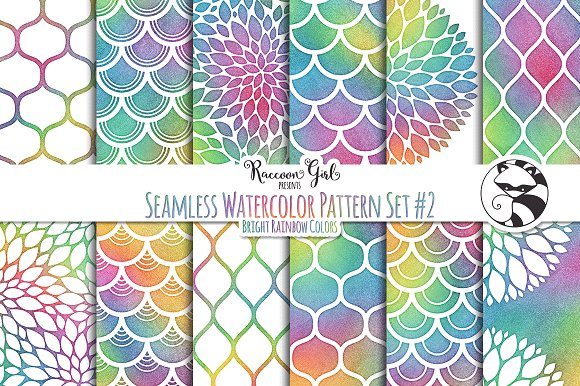 Seamless Watercolor Pattern #2 Br