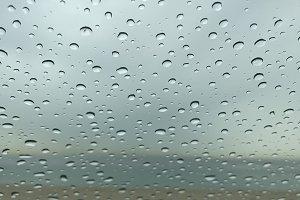 rainy beachtown