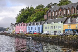 Colorful houses in Portree on Skye