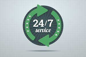 24/7 hours service sign