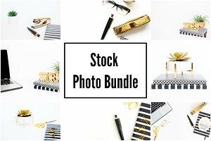 Black, White, and, Gold Stock Photos