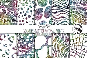 Seamless Glitter Animal Prints br