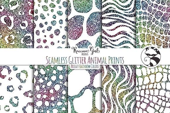 Seamless Glitter Animal Prints Br