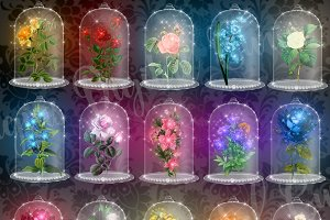 Enchanted Flowers Clipart
