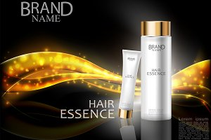 Premium cosmetic gold ads