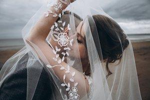 Beautiful couple on wedding day