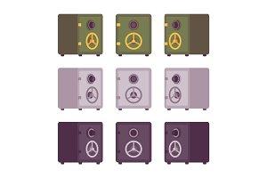 Set of metal safes