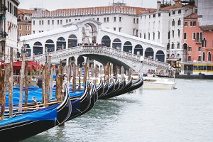 Grand canal Venice And Rialto Bridge