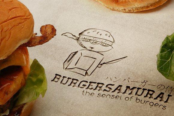 Burger Samurai Sensei of burgers in Logo Templates - product preview 1
