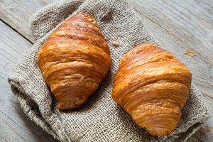 Two croissants