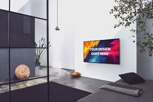 Television Display Mock-up#39