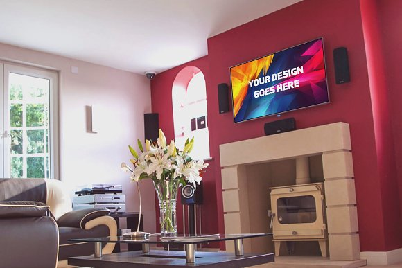 Television Display Mock-up#41