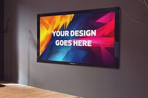 Television Display Mock-up#45