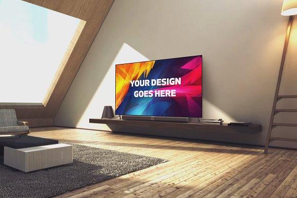 Television Display Mock-up#47