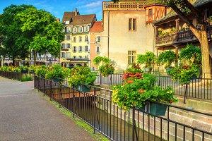 Beautiful street in Colmar, France