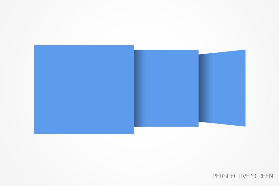 Perspective website bundle mockup in Mobile & Web Mockups - product preview 8