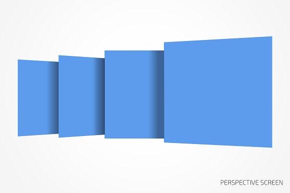 Perspective website bundle mockup in Mobile & Web Mockups - product preview 1