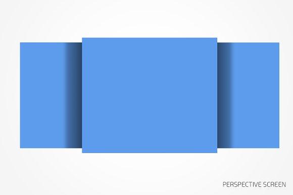 Perspective website bundle mockup in Mobile & Web Mockups - product preview 2