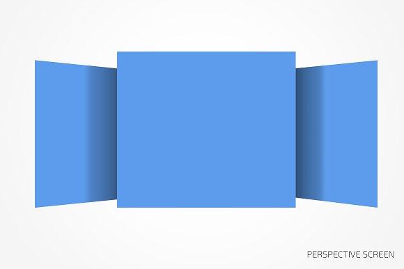 Perspective website bundle mockup in Mobile & Web Mockups - product preview 3