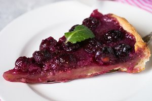 Sweet cherry cake pie tart.