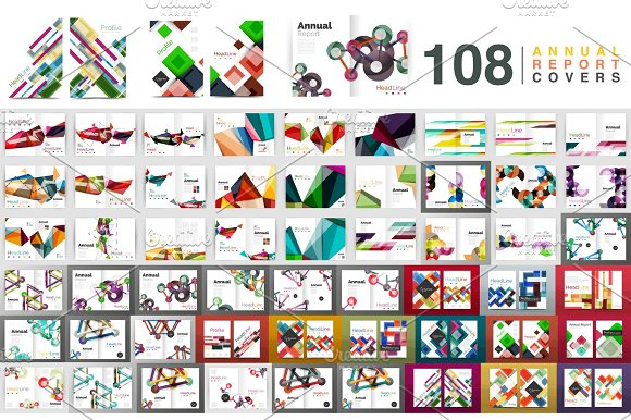 Mega Collection Of Business Annual Report Brochure Templates