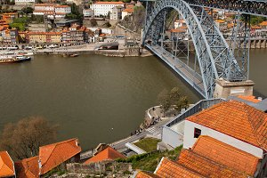 Porto and Gaia Cityscape in Portugal