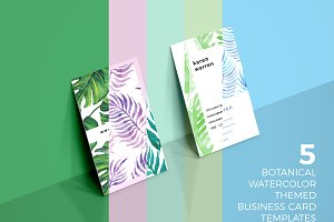 5 Botanical Business Card Bundle
