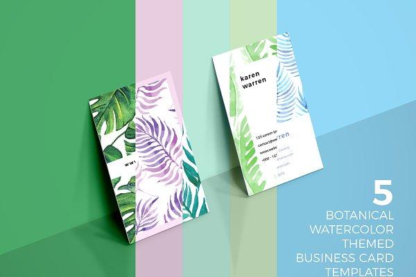 5 Botanical Business Card Bundle
