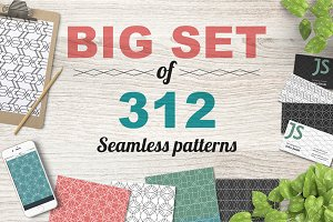 300+ seamless patterns