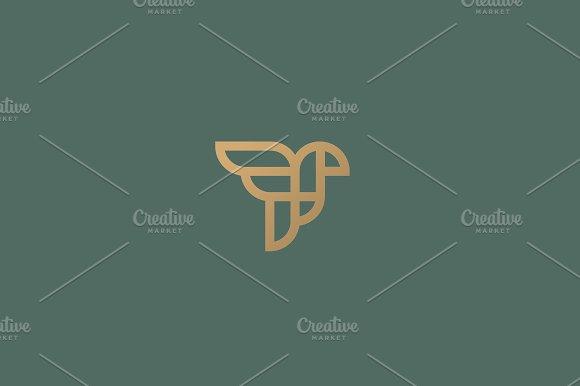 Abstract Bird Logo Design Creative Eagle Line Symbol Luxury Linear Falcon Hawk Logotype