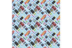 Hip hop pattern vector background