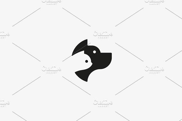 Dog And Cat Negative Space Logo Design Pet Store Logotype Pet