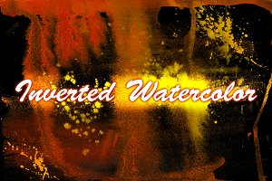 Inverted Watercolor Textures