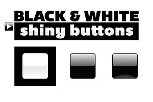Black & White Icon or Button Bases