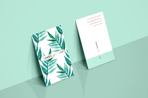 Botanical Watercolor Business Card 1