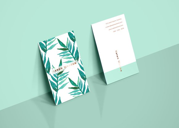 botanical watercolor business card 1 business card templates