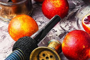 Shisha with orange taste