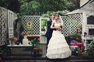 Daydreaming newlyweds