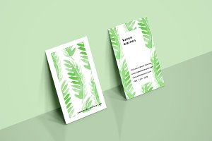 Botanical Watercolor Leaves Card