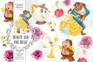 Beauty and The Beast Clip Art