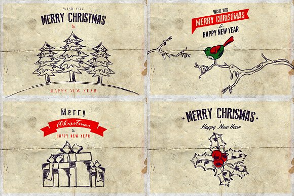 Christmas Background & Cards Vol.3 in Card Templates - product preview 1