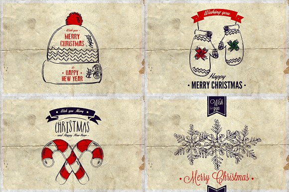 Christmas Background & Cards Vol.3 in Card Templates - product preview 3