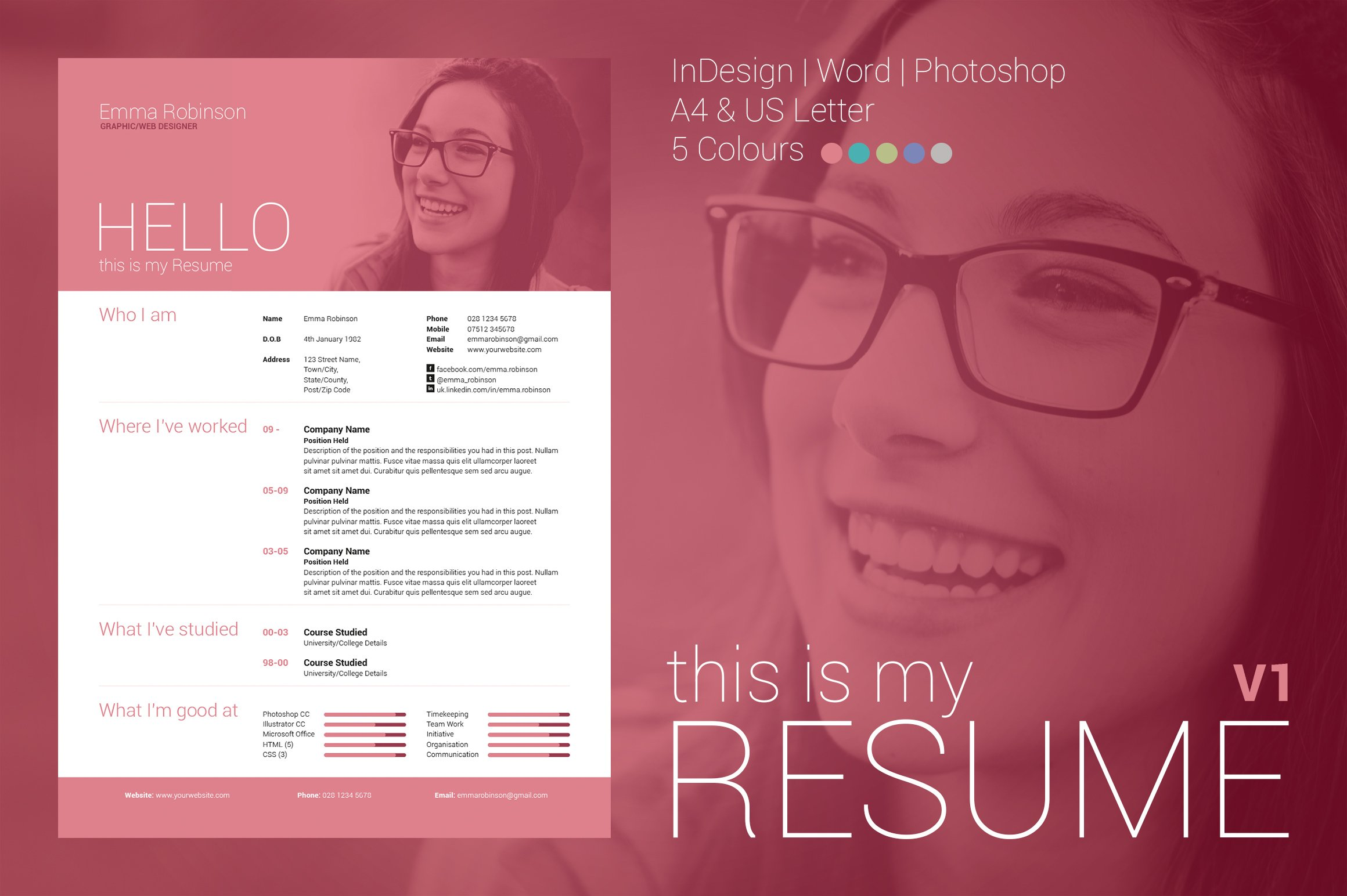 my resume v1 resume templates on creative market