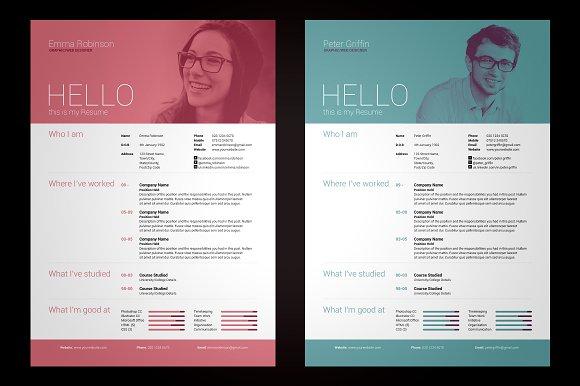 my resume v1 resume templates creative market