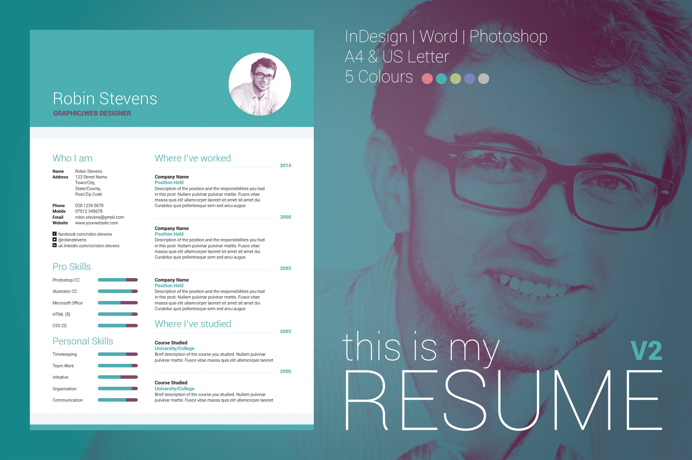 my resume v2 resume templates on creative market
