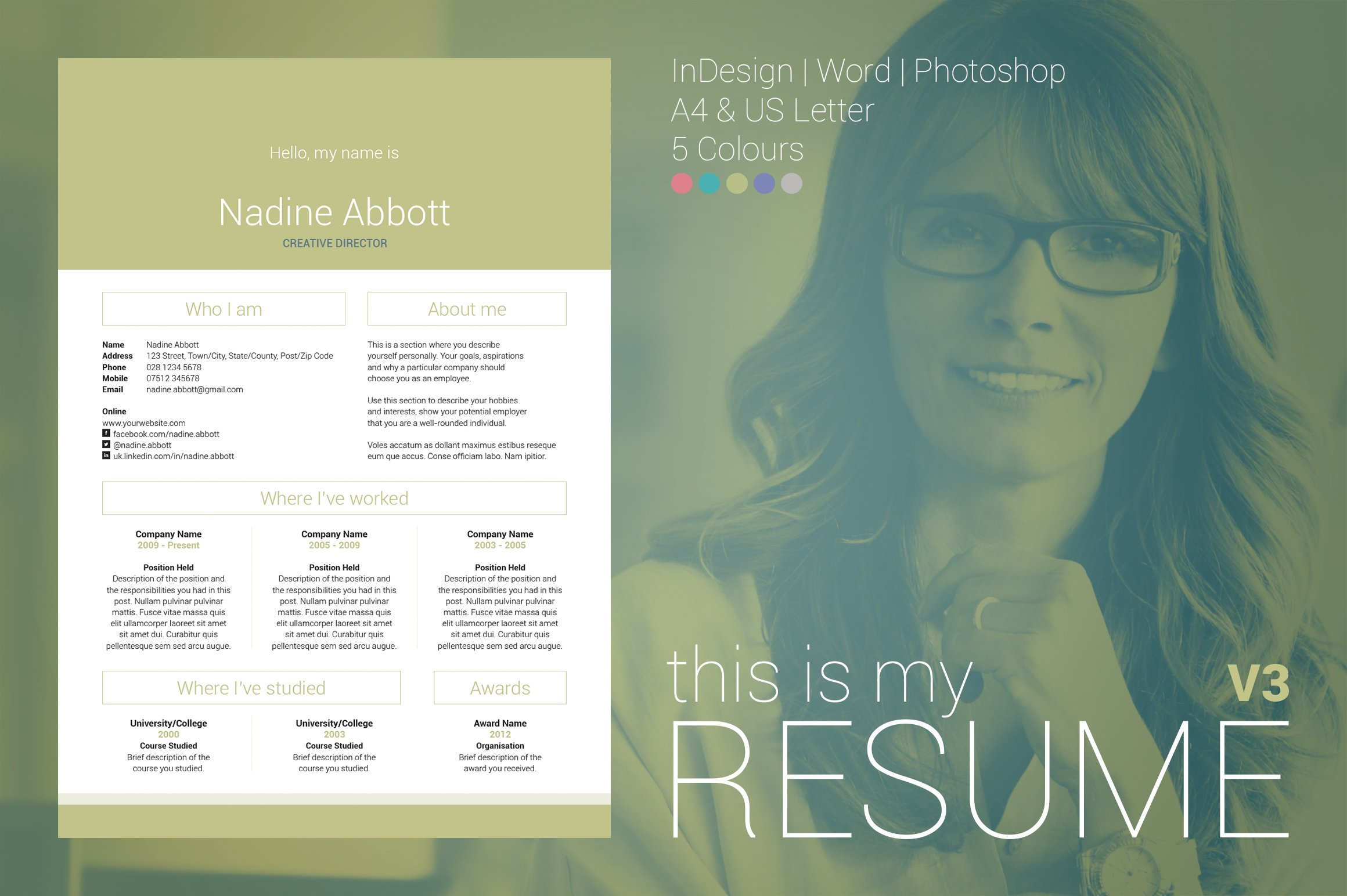 my resume v3 resume templates on creative market