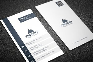Simple Vertical Business Card